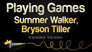 Summer Walker, Bryson Tiller - Playing Games (Karaoke Version)