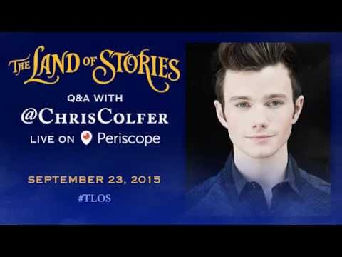 The Land of Stories Q&A with Chris Colfer - Live on Periscope