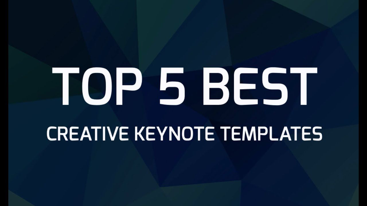 Top 5 Best Creative Keynote Templates - YouTube