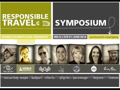 2016 Responsible Travel Symposium