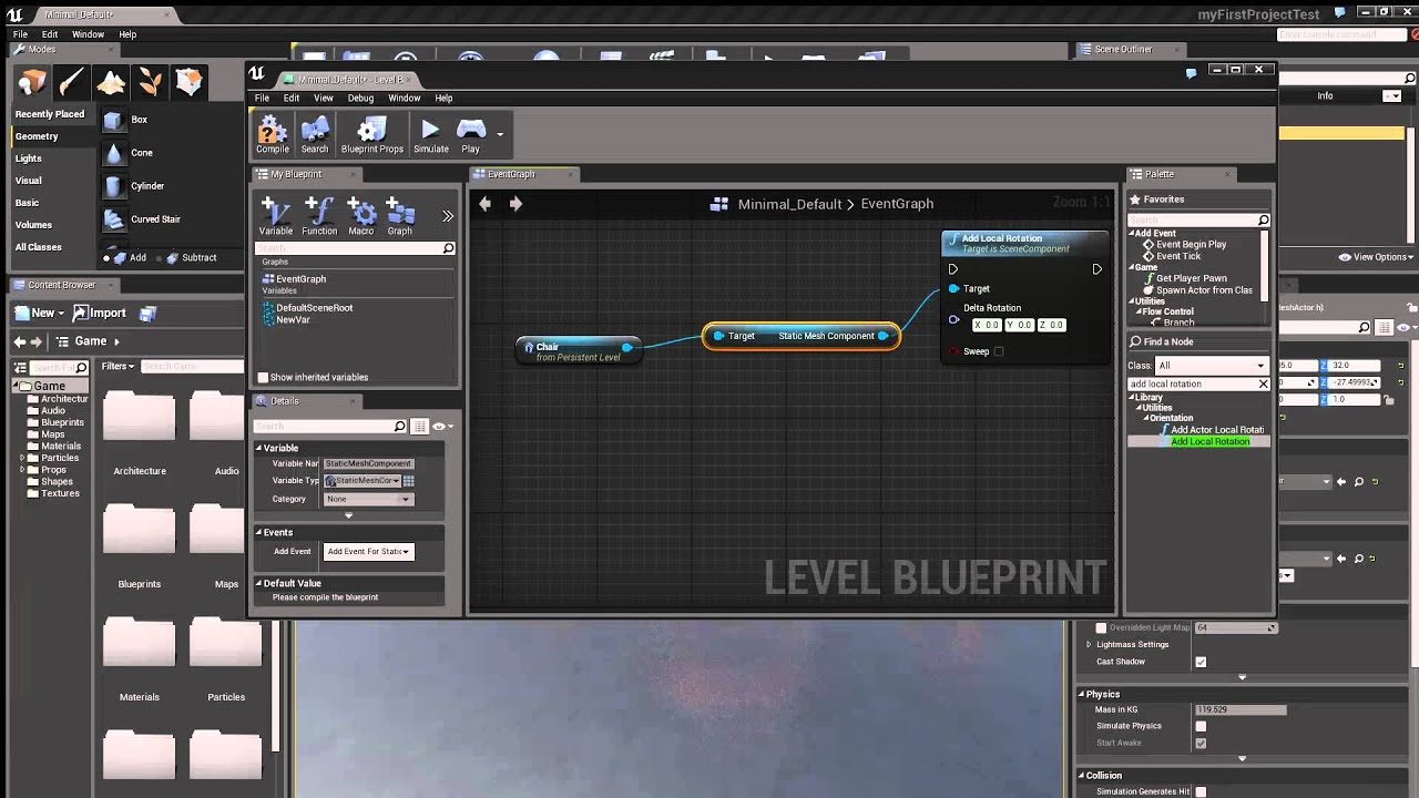 How to create a spinning mesh in unreal engine 4 ue4 youtube malvernweather Image collections