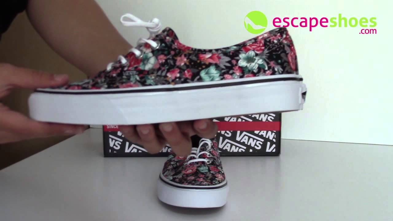 vans authentic flower