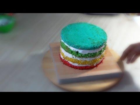 Радужный торт с йогуртным кремом Я ТОРТодел!