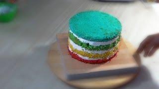 Радужный торт с йогуртным кремом - Я - ТОРТодел!