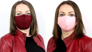 Как сделать маску для лица Сшить маску легко просто и быстро Самая удобная Маска своими руками