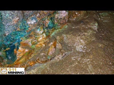 Free Gold & Sulphides At A Mineralized Quartz Vein & Mine Shaft