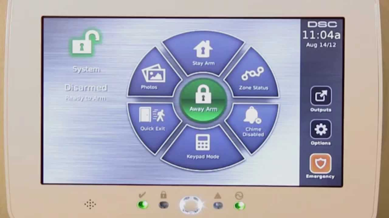 Security Alarm Now >> DSC Touchscreen PTK5507 Alarm Keypad - YouTube