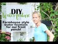 DIY Farmhouse Style Water Feature