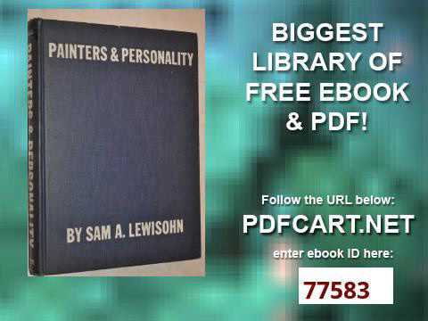 Painters and Personality A Collector's View of Modern Art Essay Index Reprint Series
