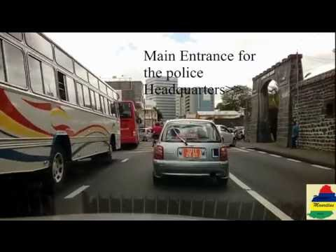 Guided Tour Port Louis CAPITAL OF MAURITIUS-RAW footage with TAGS!