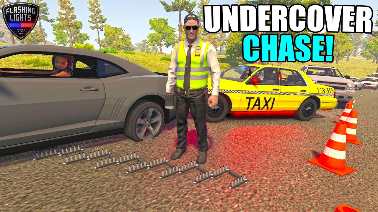 POLICE CHASE IN UNDERCOVER TAXI COP CAR | FL POLICE DEPARTMENT FLASHING LIGHTS GAME