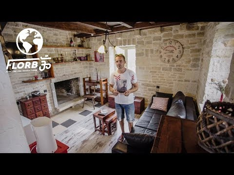 OFF THE GRID Traditional STONE TINY HOUSE built BY HAND