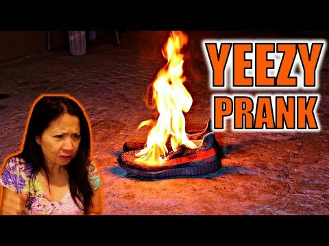 BURNING YEEZY PRANK ON PARENTS **MAD** (GIVEAWAY)