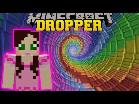 Minecraft: - RAINBOW SPIRAL!!! - THE DROPPER - Custom Map [2]