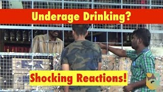 16 Year Old Boy Buying Alcohol SOCIAL EXPERIMENT | Awkwardness Unlimited
