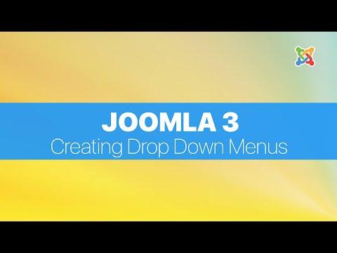 Joomla 3.2 - Creating Drop Down Menus