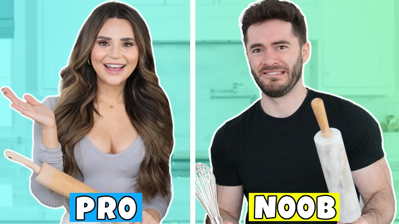 CaptainSparklez Tries To Keep Up With A Professional Baker | Rosanna Pansino