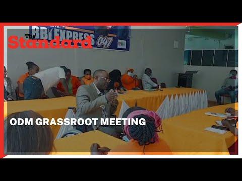 ODM Nominated Senator Beatrice Kwamboka and Westlands MP Timothy Wanyonyi lead BBI grassroot meeting