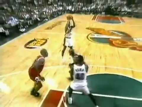Gary Payton Vs. Michael Jordan - Bulls @ Sonics - 1996 Finals Game 5 (June 14, 1996)