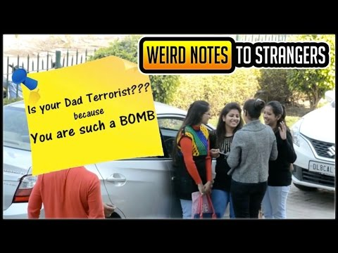 Weird And Romantic Notes To Strangers Prank | Pranks In India | SOS Pranks