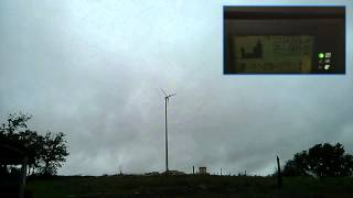 Anelion SW3.5-GT small wind turbine working under gusty wind around 12 m/s