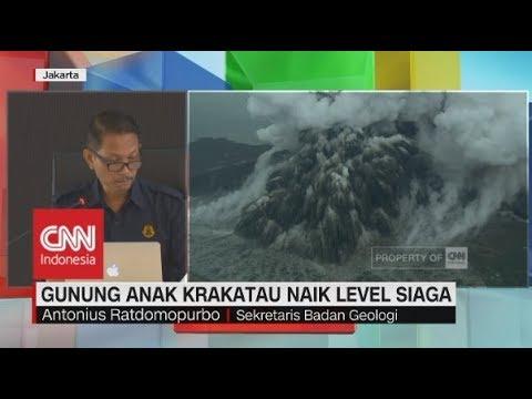 Gunung Anak Krakatau Naik ke Level Siaga