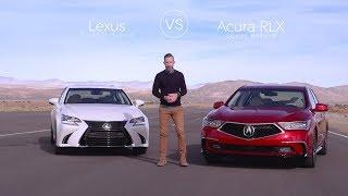 Lexus GS 450 vs Acura RLX - Video Review Comparison