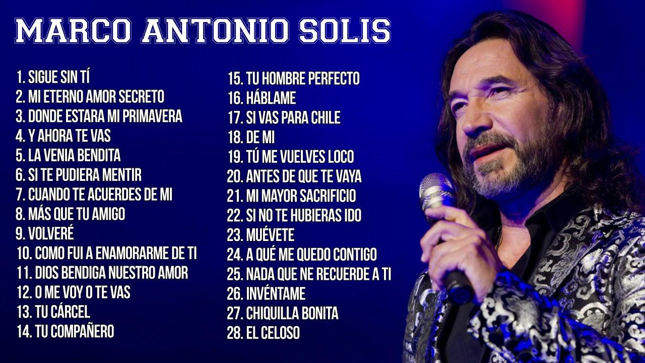 Marco Antonio Solis Mas Exitos En Vivo Youtube