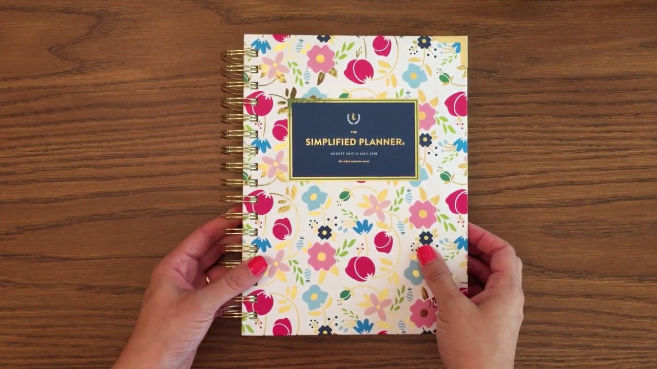photograph about Emily Ley Planner known as Emily Ley Simplified Planner Overview: 2017-2018 Educational Day by day