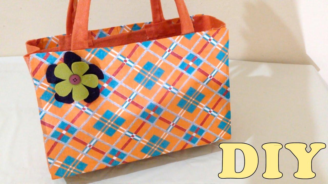 7527dcb89 Do Lixo ao Luxo : Bolsa Sacola com Caixa de Leite - DIY Artesanato - YouTube
