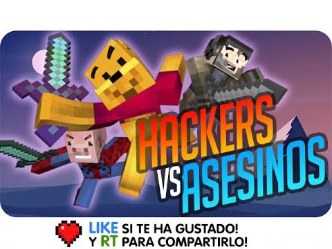 HACKERS vs ASESINOS !! | Sarinha Gona y Luh en Minecraft Assassination