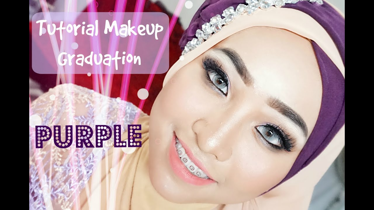 Tutorial Makeup Graduation Purple Wisuda Alyn Devian YouTube