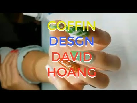 HOW TO THE COFFIN NAIL ART DAVID HOANG DESIGN