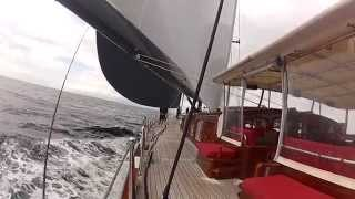 181' Superyacht Marie sailing at speed.