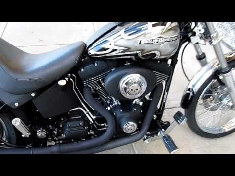 Harley-Davidson Night Train Thunder Header exhaust, Sick Custom Paint For Sale