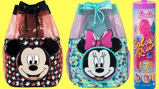 Mickey and Minnie Mouse Backpack Surprises with Barbie & LOL Dolls