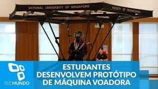 Estudantes de Singapura desenvolvem protótipo de máquina voadora