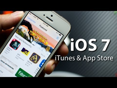 iOS 7 - iTunes & App Store On iPhone 5