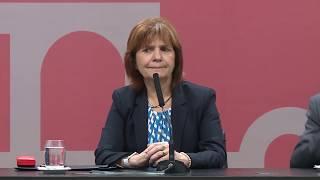 Declaraciones  a la prensa de  Patricia Bullrich y Federico Pinedo