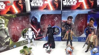 Armor Up Stormtrooper, Kylo Ren, Finn, Poe Dameron Star Wars 3 75 inch The Force Awakens Toy Review