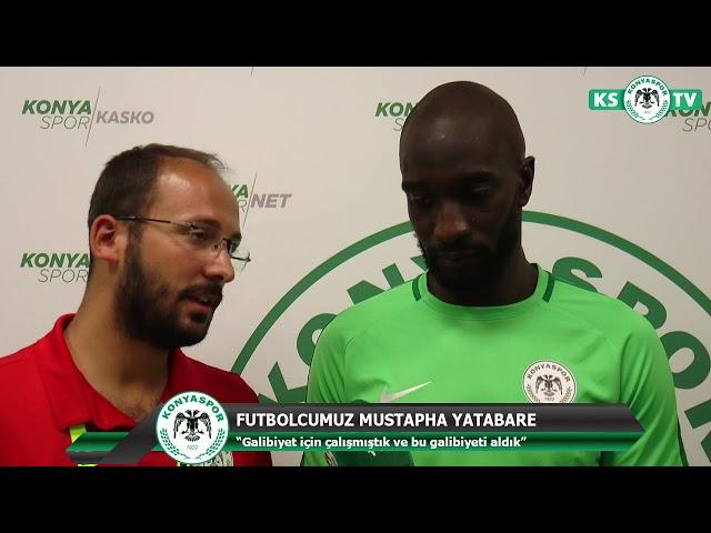 Futbolcumuz Yatabare'nin Erzurumspor maçı sonrası açıklamaları