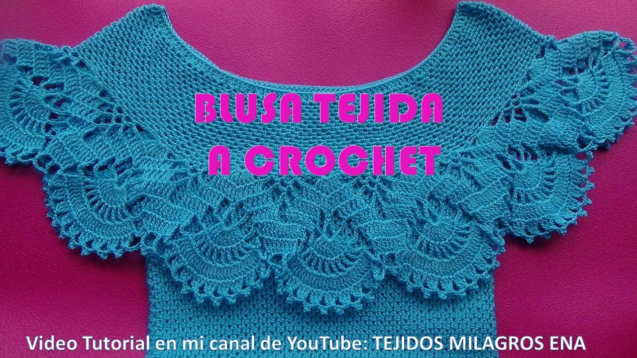Blusa Tejida A Crochet Para Verano Parte 1 De 2 Paso A Paso En Video