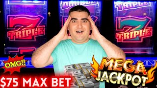 My ✦BIGGEST JACKPOT✦ On Triple Double Gold 3 Reel Slot Machine - $75 Max Bet | SE-8 | EP-22
