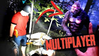 Hunting the REAL BIGFOOT Horror Game... MULTIPLAYER! (Bigfoot Horror Roleplay)
