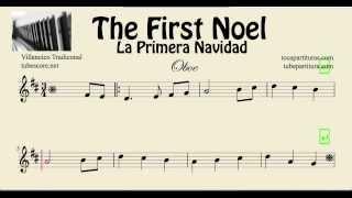 La Primera Navidad Partitura de Oboe The First Noel