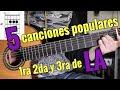 5 Canciones Populares en 1ra 2da y 3ra de LA parte 2