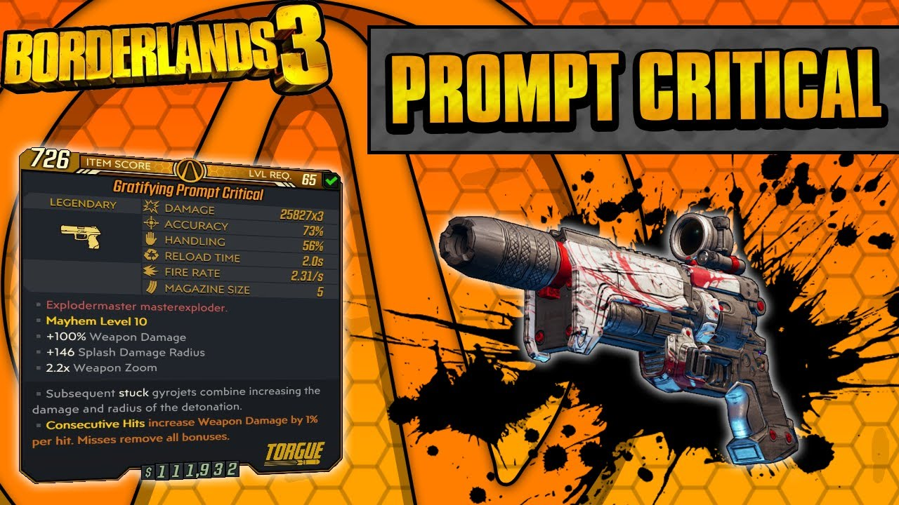 Borderlands 3 | Prompt Critical Legendary Weapon Guide (The New DPUH of BL3!) thumbnail
