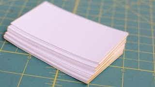 Make Fancy Edge-Painted Business Cards - DIY Style - Guidecentral