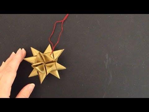 Ribbon Star Ornament Tutorial Youtube