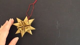 This gorgeous star made from inexpensive ribbon will look fantastic...